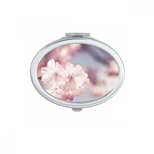 DIYthinker Roses Big-Sized Fleurs Rouges Ovale Maquillage Compact Miroir de Poche Portable Mignon Petit Miroirs Main Cadeau Multicolor