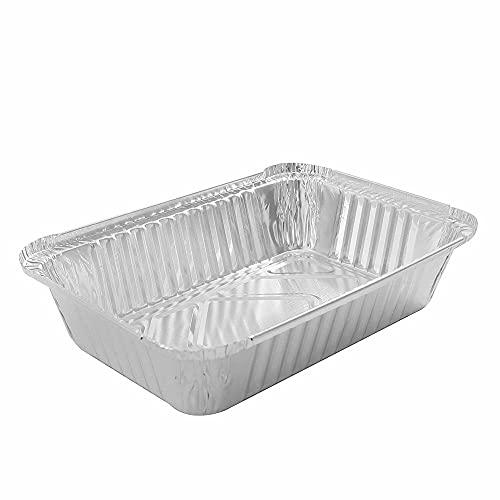 PPuujia Bandeja de aluminio desechable para barbacoa, bandeja de goteo de papel de aluminio, bandeja de goteo reciclable, para suministros al aire libre Weber (color rojo)