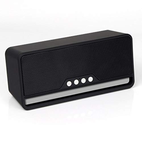 ZJHNZS Altavoz Bluetooth Altavoz Bluetooth inalámbrico subwoofer Ebay Mini teléfono móvil Tarjeta multifunción Fabricantes de Audio Especiales, Negro