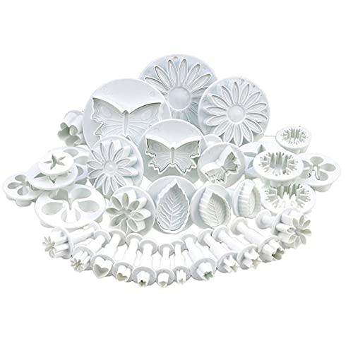 RINSX Herramienta de decoración de pasteles de flores de plástico, cortador de azúcar, molde de galletas para dulces, magdalenas y pasteles