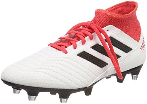 adidas Predator 18.3 SG, Scarpe da Calcio Uomo, Bianco (Ftwwht/Cblack/Reacor Ftwwht/Cblack/Reacor), 40 EU