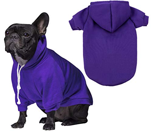 JPB Blank Dog Sweatshirt Pet Hoodie for Puppy Small Dogs Doggie Clothes S