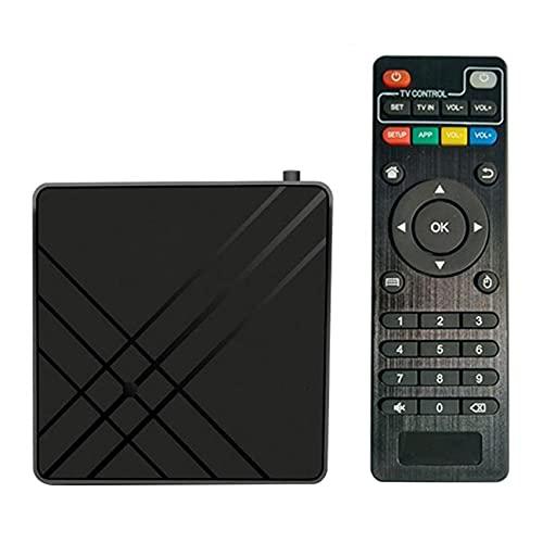 Tamkyo para Android 9.0 TV Box 4GB 32GB ROM TV Set Top Box Amlogic S905 MX + S QPro 4K Parte de Video de Audio para el Hogar Enchufe de la UE