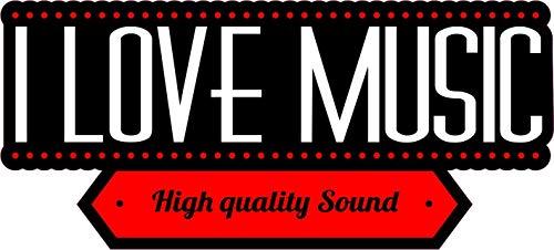 NetSpares 120666712 1 x Aufkleber I Love Music Sound Sticker DJ Tuning Musik Static Fun