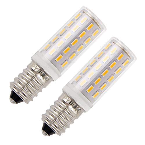 E14 Led Dunstabzugshaube Glühbirne, 5W LED Birne Ersatz für 45W Halogenlampen, Warmweiß 3000K, AC100-240V, für Dunstabzugshaube, Kühlschrank, Nähmaschine. (2er Pack)