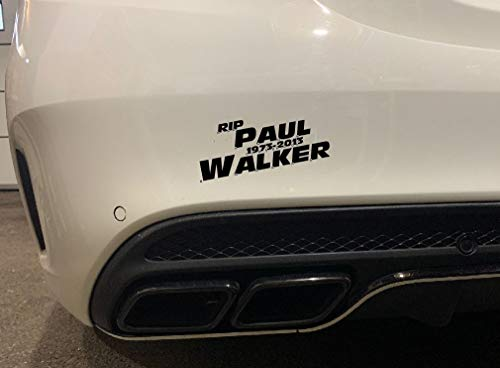 Dinger-Design Aufkleber RIP Paul Walker Auto JDM Tuning OEM Dub Decal Stickerbomb 15x6 cm