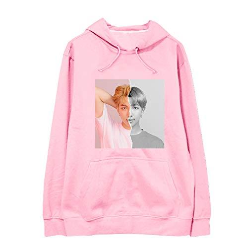 SERAPHY Unisex KPOP Kapuzenpullover Avatar Sweatshirts Army Suga Jimin Jin Jung Jook J-Hope Rap-Monster V Pullover-94R-Pink-2XL