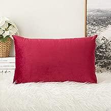 Angel Mommy Imported Velvet Pillow Cover/Pillowcases - Standard Size 18x28 (Velvet Maroon), Pack of 2