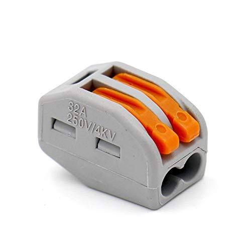 LEVER-NUTS - Conectores compactos con 2 conductores 28-12 AWG, paquete de 50