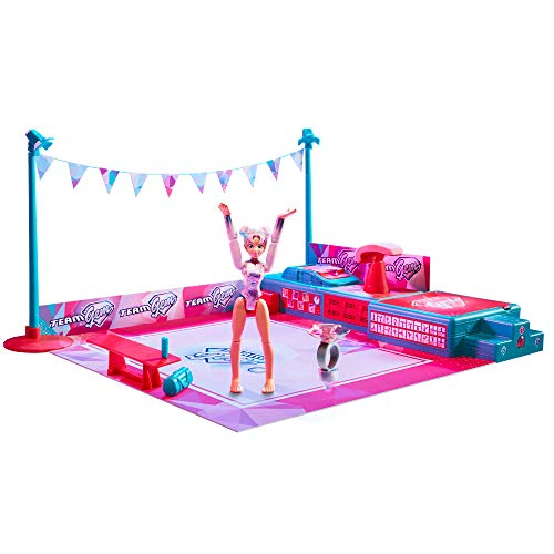 Team Gem Gimnasio Gemazing con Magic Balance Gymnast Doll-Luna, Color Plata (Moose Toys 608OVA)