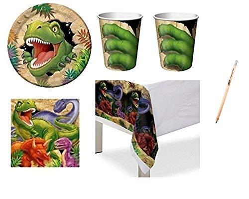 Creative Converting IRPot - Coordinato TAVOLA 113 PZ Compleanno Bambino Tema Dinosauri