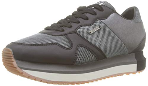 Pepe Jeans London Zion Mesh, Zapatillas para Mujer, Black 999, 40 EU