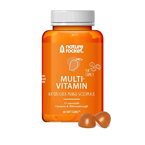 Multivitamin | Softgums vegan | 11 Mikronährstoffe | Natürlicher Mango-Geschmack | Made in Germany | 60 St Monatspackung