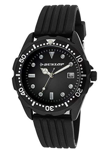 Dunlop Reloj Analógico para Unisex Adultos de Cuarzo con Correa en Caucho DUN184L01