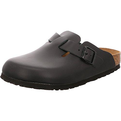 Birkenstock Schuhe Boston Naturleder Schmal Black (060193) 41 Schwarz