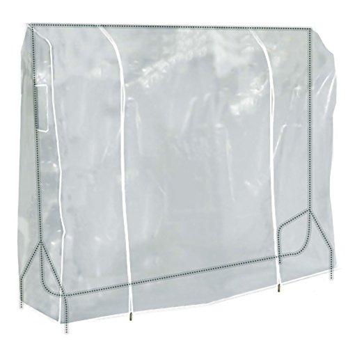 Hangerworld Cubierta 183cm para Perchero Funda para Burro Plástico Transparente Cremallera Protección