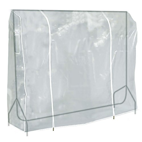 HANGERWORLD Clear 6ft Showerproof Zip Clothes Rail Cover Hanging Garment Storage Display