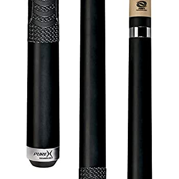 Players HXTC13 Billiard Pool Cue PureX Midnight Black Forearm and Butt with Mz Multi-Zone Grip Kamui Tip 19-Ounce 11.75 mm