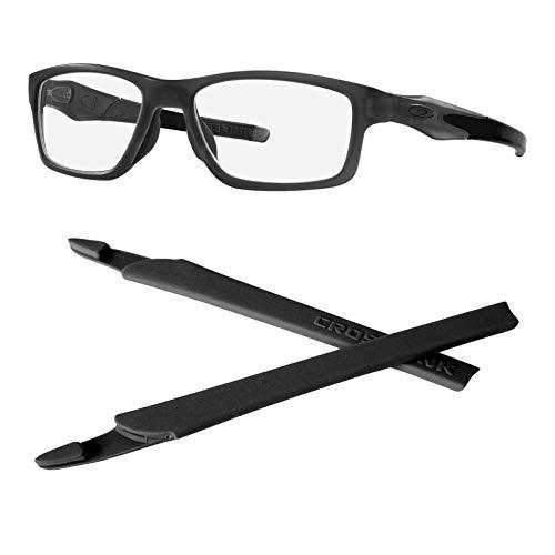StaySoft Replacement Temple Ear Socks for Oakley Crosslink PRO Switch Sweep Eye Glass Frame - 1 Pair Black