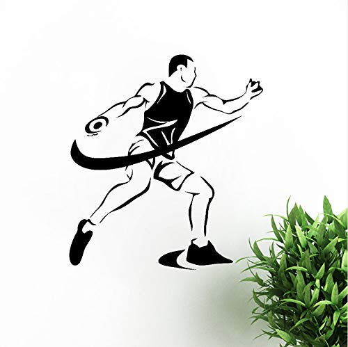 Muurstickers Sport Competities Atletiek Discus Gooien Vinyl Sticker Slaapkamer Eendelig Pakket Patroon Muursticker 42x46cm