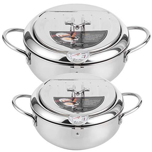 HEEPDD Padella per friggitrice, friggitrice per trucioli Tempura per friggitrice con Stile Giapponese e fornello a induzione Compatibile(l)