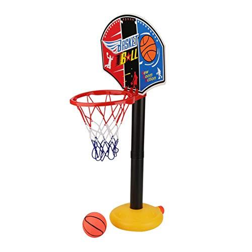 VGEBY Juego de baloncesto para niños, juego de baloncesto ajustable para practicar tiro al aire libre y interior