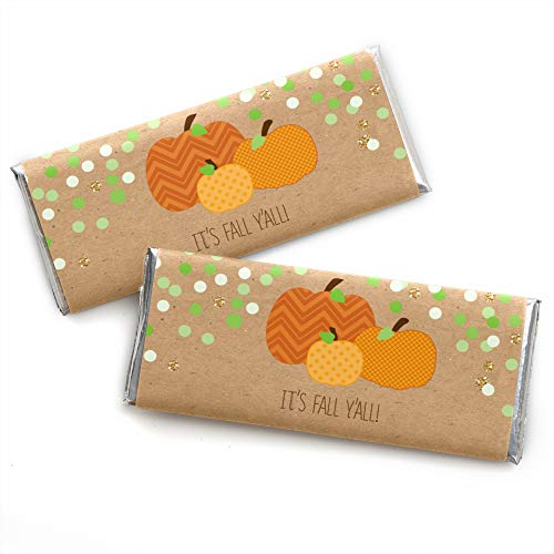 Pumpkin Patch - Candy Bar Wrappers Fall & Halloween Party Favors - Set of 24