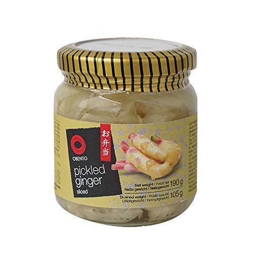 Obento Sliced Pickled Ginger (Eingelegter Ingwer in Scheiben), 190 g