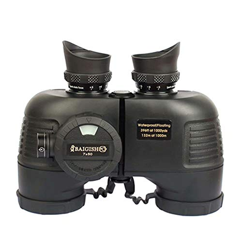Amazing Deal WYJ-Telescope 10x50 Military Binoculars for Adults with Range Finder and Compass, Suita...