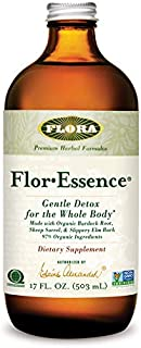 FLORA - FlorEssence Liquid Tea, Gentle Detox & Cleanse, All Natural Herbs, 17 Fl Oz