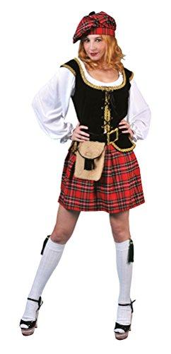 Karneval-Klamotten Kostüm Schottin Loch Ness Dame Kostüm Karneval Schottland Damenkostüm