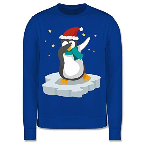 Weihnachten Kind - Dab Pinguin Weihnachten - 140 (9/11 Jahre) - Royalblau - Pinguin dab Kinder - JH030K - Kinder Pullover