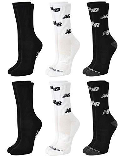 New Balance Women's Moisture Wicking Cushioned Crew Socks (6...