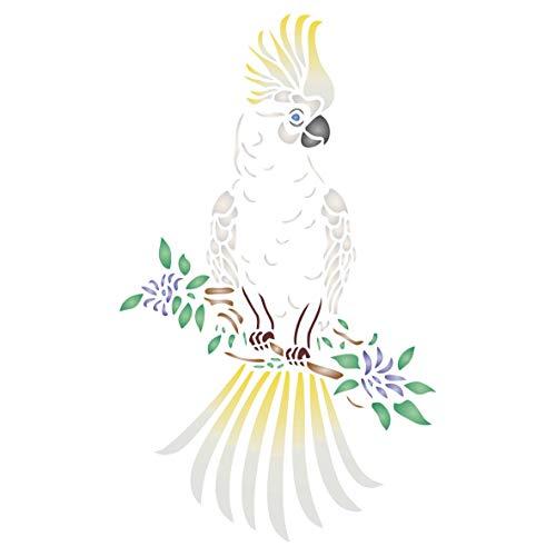 Kakadu Schablone – Dekorative Tiere Wildtiere Papagei Vogel Schablonen m