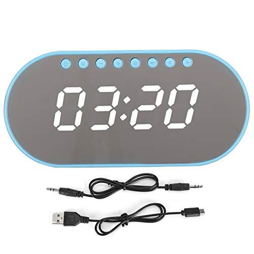 Surebuy Salida de Voz Inteligente Reloj Despertador Altavoz Altavoz Digital Uso Duradero(Blue, Pisa Leaning Tower Type)