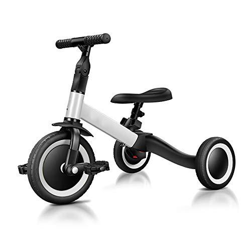 JFDHNUI Bebé de Tres Ruedas Equilibrio Bicicletas, Anti-vuelco Juego Paseo bebé Walker, Aprender a Caminar for Llegar un Sentido de Equilibrio, Que es una Buena opción for los niños (Color : White)