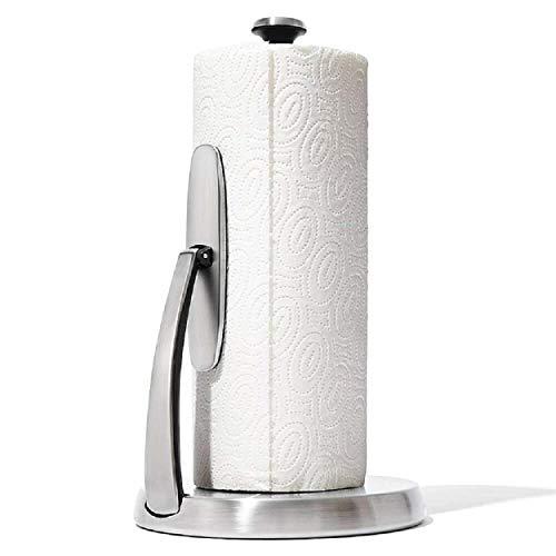 OXO Good Grips Soporte y portarrollos de papel de cocina de acero...