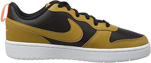 Nike Jungen Court Borough Low 2 (GS) Basketballschuh, Black Wheat Orange Pulse White, 35.5 EU