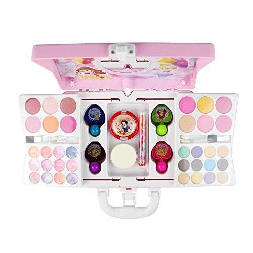 Blue-Yan Juguete cosmético para niñas, Kits de Maquillaje de Princesas Disney no...
