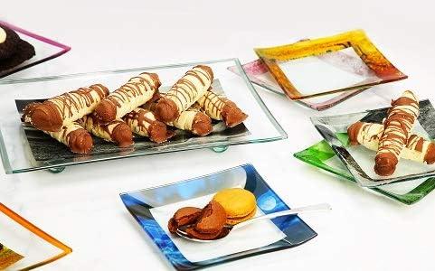GAC Unique Landscape Design Dessert Plate Serving 5 with Lowest Super sale price challenge Set for