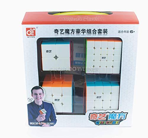 Kit Box Cubo Mágico Qiyi 2x2x2 3x3x3 4x4x4 5x5x5 - Cubo Store