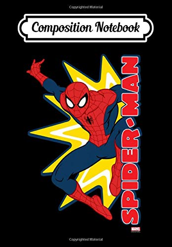 Composition Notebook: Spider-Man Callout Graphic Tank Top, Journal 6 x 9, 100...