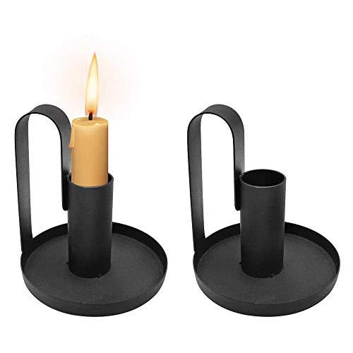 zhoufeng 1 unids candelabros pequeños Vela Soporte Soporte Negro Simple Retro candelabro chamberstick candelabro Nuevo Vendedor Caliente, Agregue una atracción de Este Tipo a su Espacio.