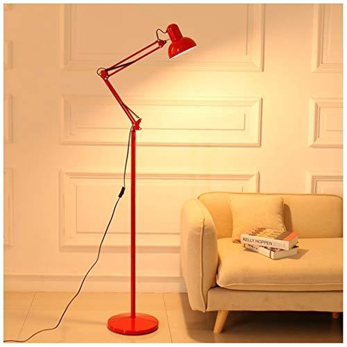 QTDH draaibare led-vloerlamp licht modern instelbare flexibele zwanenhals hoge pole licht architecten-ontwerp dimbare leeslamp voor kantoor studeerkamer