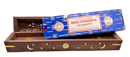 100 Gram Nag Champa with Celestial Coffin Incense Holder Box by Alternative Imagination