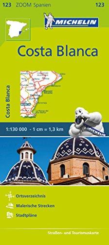 Michelin Zoomkarte Costa Blanca 1 : 130 000: Straßen- und Tourismuskarte: 123