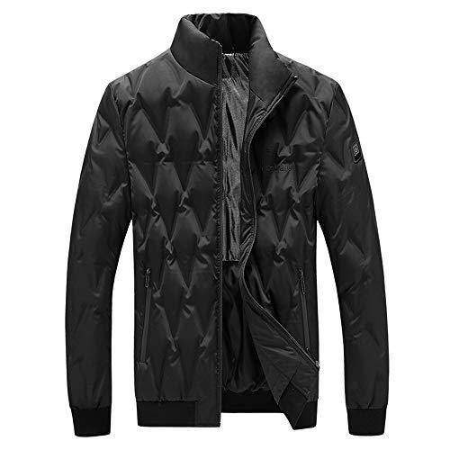 YFJBDKS Veste Chauffante, Homme Hiver Jacket Chaude USB Charge Manches Longues électrique Vêtements Chauffant avec 3 Ajustable Température pour Pêche Moto Ski Camp en Plein Air,Noir,M