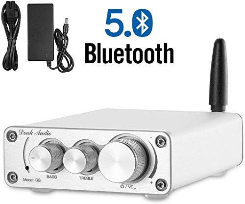 Nobsound TPA3116 - Amplificador de Potencia Bluetooth 5.0, Receptor inalámbrico, Mini Amplificador de Audio para Altavoces domésticos de 3 a 6 Pulgadas, 100 W (50 W x 2)