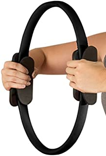 Pilates Toning Ring- Fitness Dual Grip Foam Resistance Circle, Full Body Workout for Barre