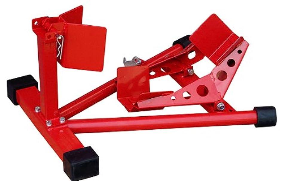 タック普通の呼吸する4713 ホイールクランプ レーシング バイクスタンド 赤